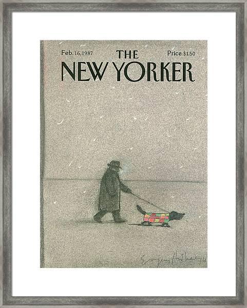 New Yorker February 16th, 1987 Framed Print