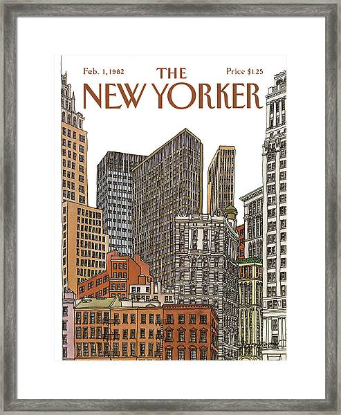 New Yorker February 1st, 1982 Framed Print