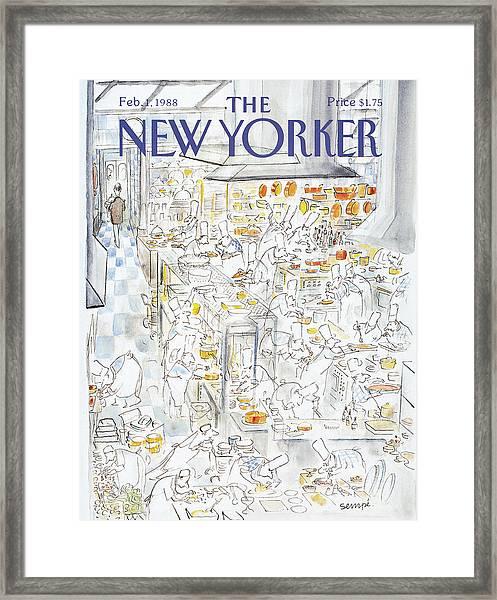New Yorker February 1st, 1988 Framed Print