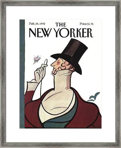 New Yorker February 24th, 1992 Framed Print