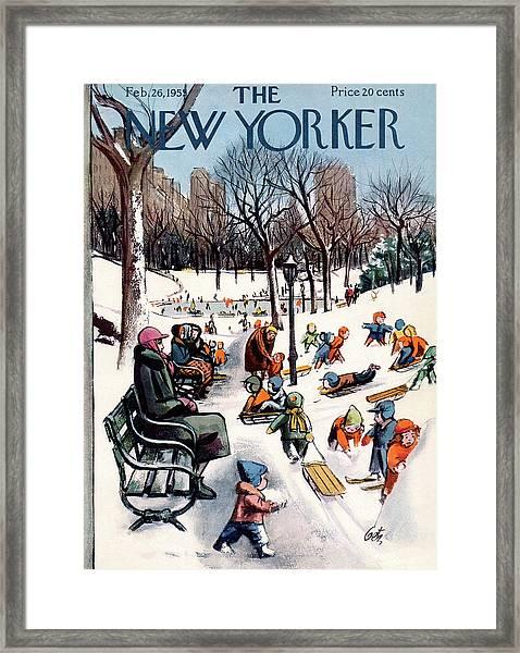 New Yorker February 26th, 1955 Framed Print