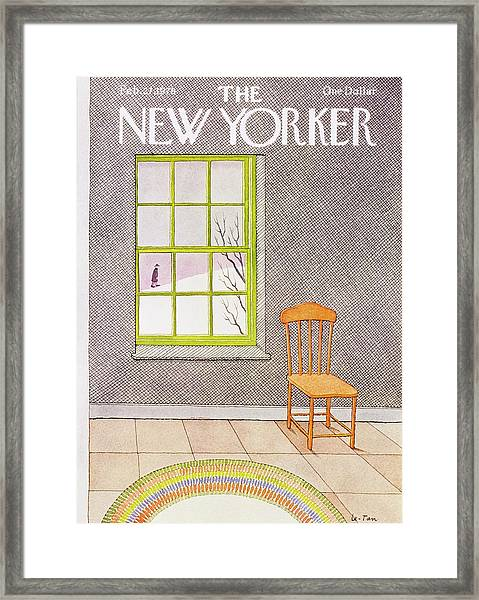 New Yorker February 27th 1978 Framed Print by Pierre Le-Tan