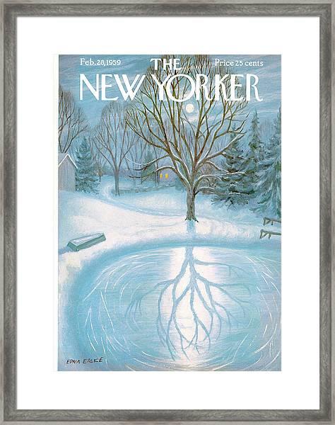 New Yorker February 28th, 1959 Framed Print