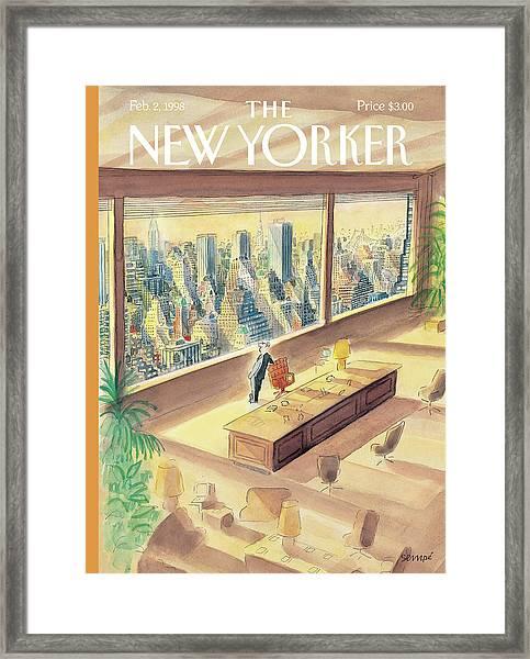 New Yorker February 2nd, 1998 Framed Print