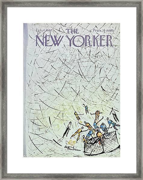 New Yorker February 4th 1967 Framed Print by Aaron Birnbaum