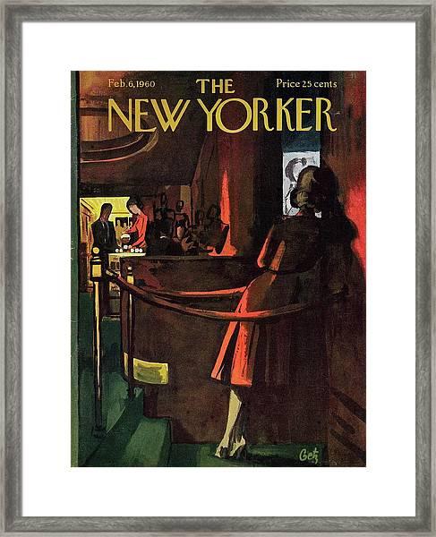 New Yorker February 6th 1960 Framed Print by Arthur Getz