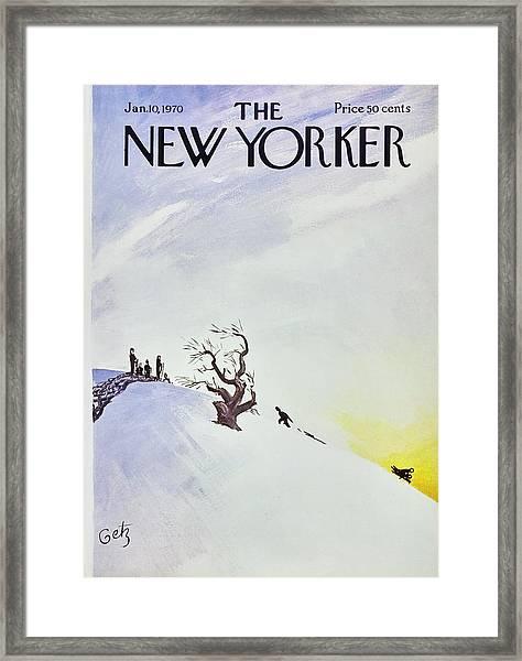 New Yorker January 10th 1970 Framed Print by Arthur Getz