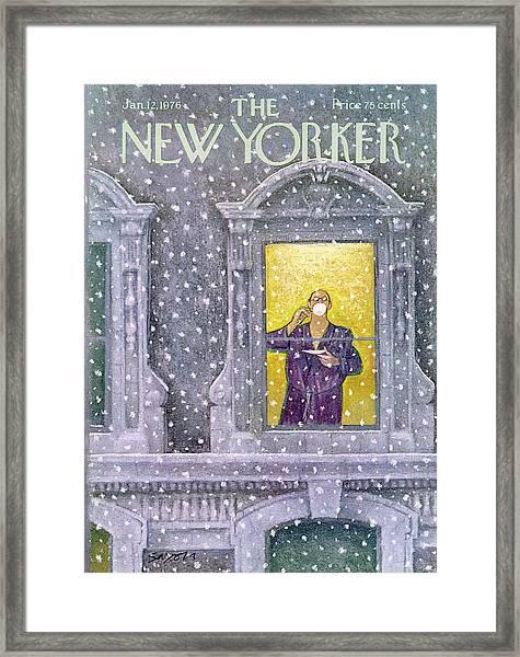 New Yorker January 12th, 1976 Framed Print