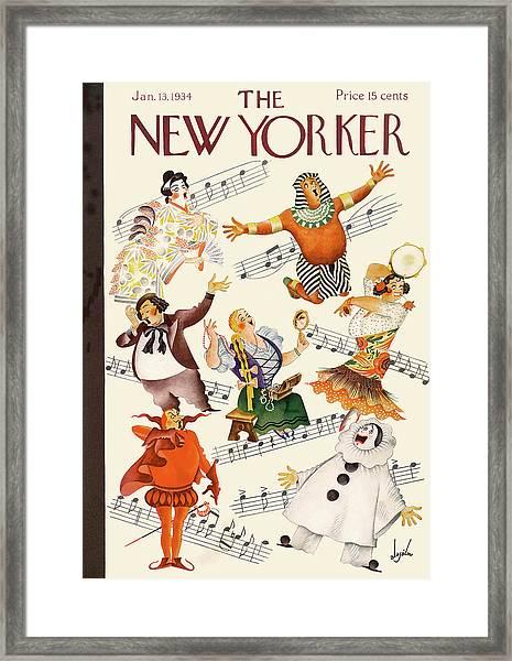 New Yorker January 13th, 1934 Framed Print
