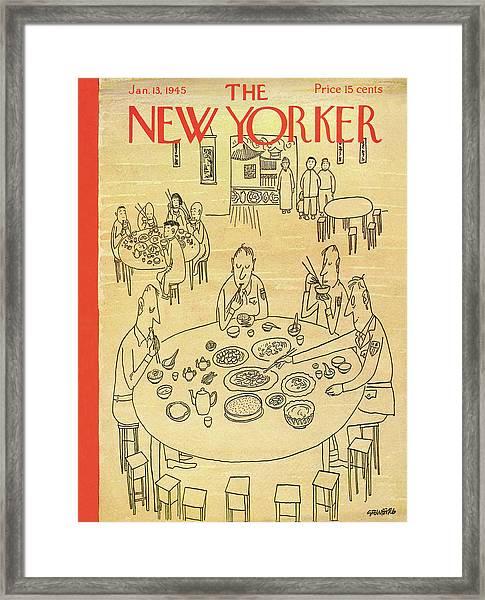 New Yorker January 13th, 1945 Framed Print