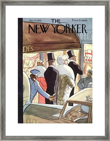 New Yorker January 14th, 1933 Framed Print
