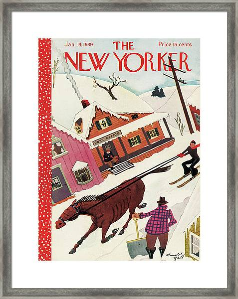 New Yorker January 14th, 1939 Framed Print by Arnold Hall