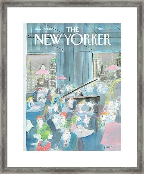 New Yorker January 15th, 1990 Framed Print