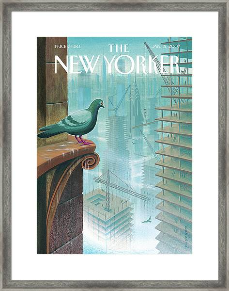 New Yorker January 15th, 2007 Framed Print by Eric Drooker