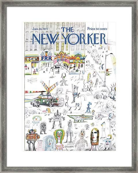 New Yorker January 16th, 1971 Framed Print