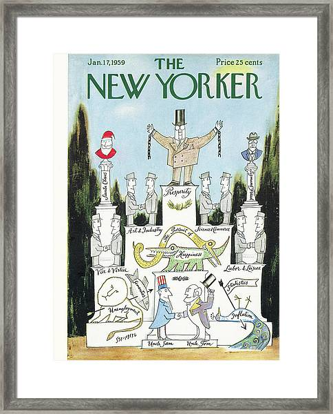 New Yorker January 17th, 1959 Framed Print
