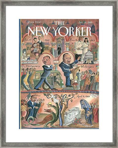 New Yorker January 18th, 1999 Framed Print
