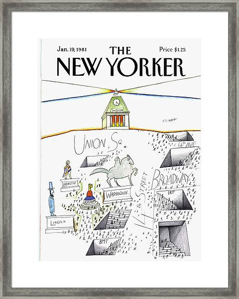New Yorker January 19th, 1981 Framed Print