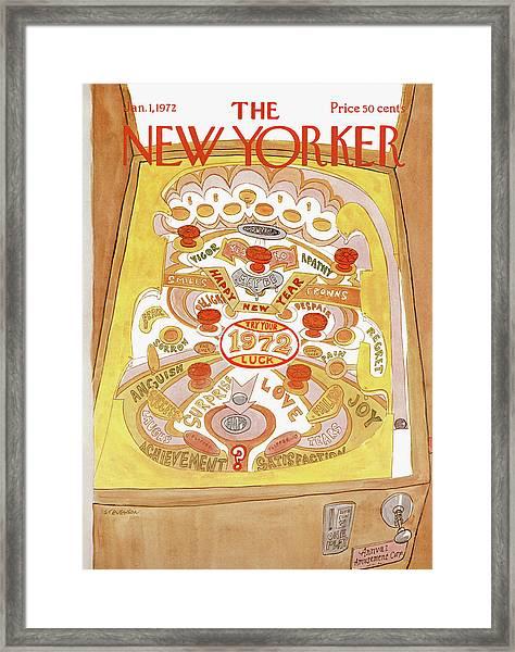 New Yorker January 1st, 1972 Framed Print