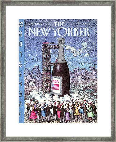 New Yorker January 1st, 1990 Framed Print