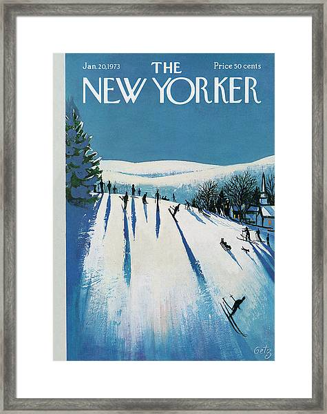 New Yorker January 20th, 1973 Framed Print
