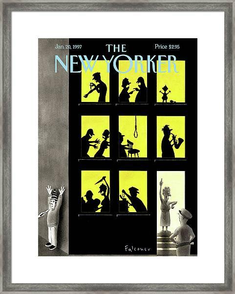New Yorker January 20th, 1997 Framed Print