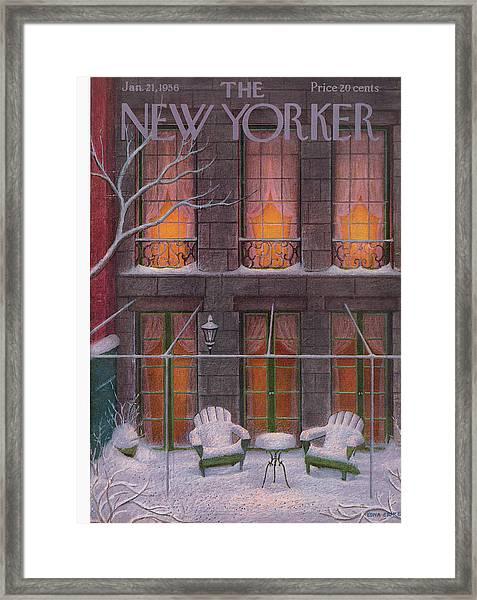 New Yorker January 21st, 1956 Framed Print