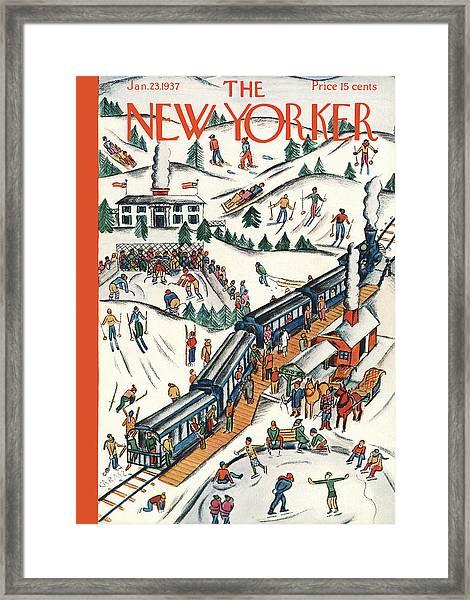New Yorker January 23rd, 1937 Framed Print