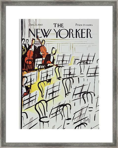 New Yorker January 23rd 1965 Framed Print