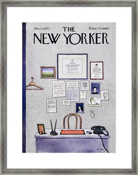 New Yorker January 24th 1977 Framed Print by Pierre Le-Tan