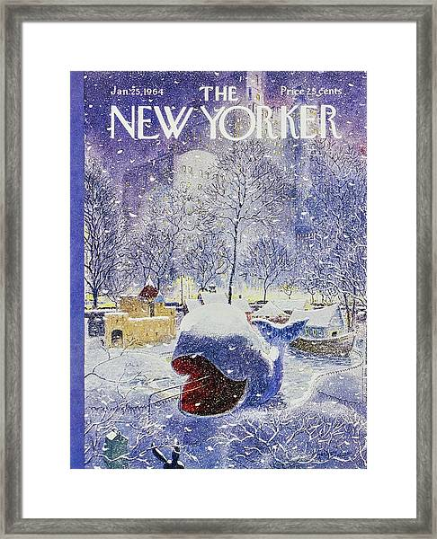 New Yorker January 25th 1964 Framed Print by Garrett Price
