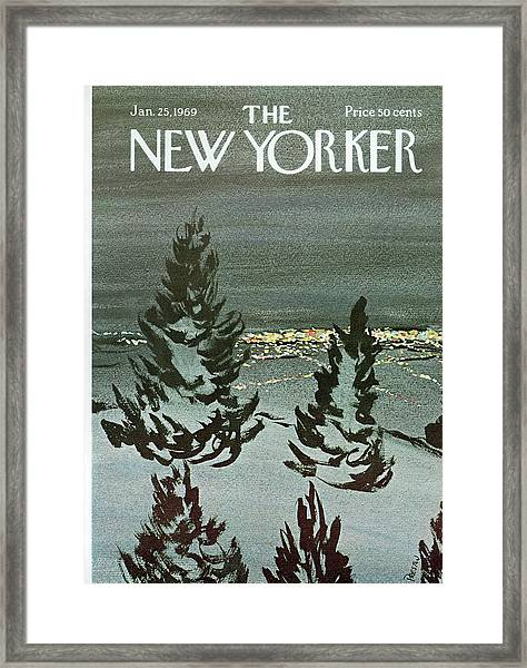 New Yorker January 25th, 1969 Framed Print
