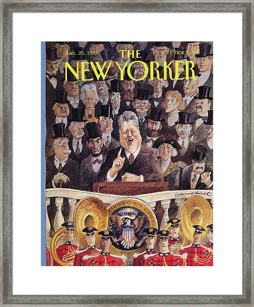 New Yorker January 25th, 1993 Framed Print