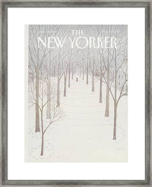 New Yorker January 26th, 1981 Framed Print