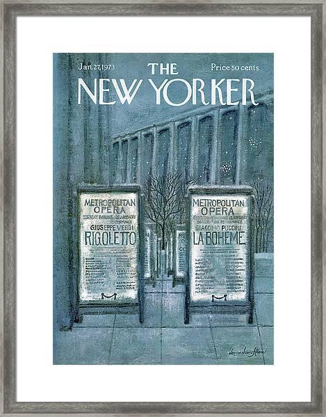 New Yorker January 27th, 1973 Framed Print