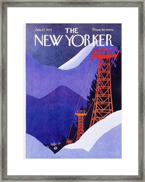 New Yorker January 27th 1975 Framed Print by Charles Martin