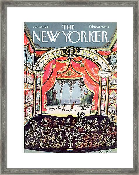 New Yorker January 28th, 1961 Framed Print