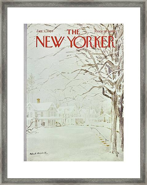 New Yorker January 4th 1969 Framed Print