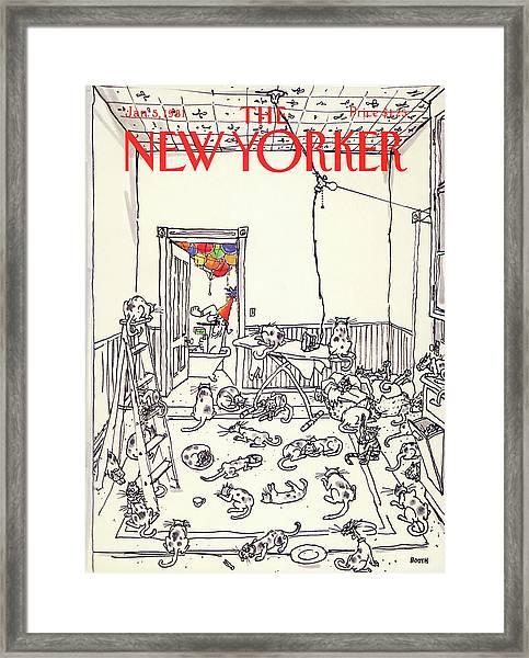 New Yorker January 5th, 1981 Framed Print
