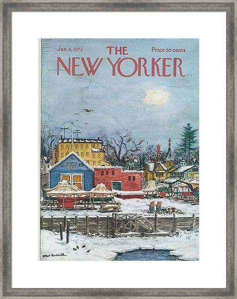 New Yorker January 6th, 1973 Framed Print