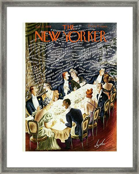 New Yorker January 7 1939 Framed Print