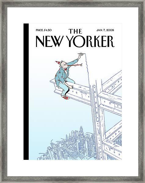 New Yorker January 7th, 2008 Framed Print