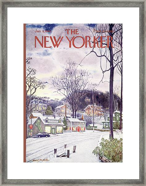 New Yorker January 9th, 1965 Framed Print