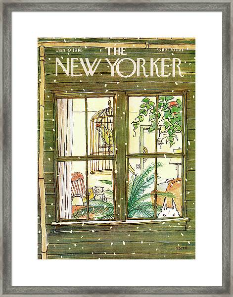 New Yorker January 9th, 1978 Framed Print