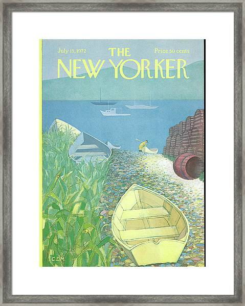 New Yorker July 15th, 1972 Framed Print
