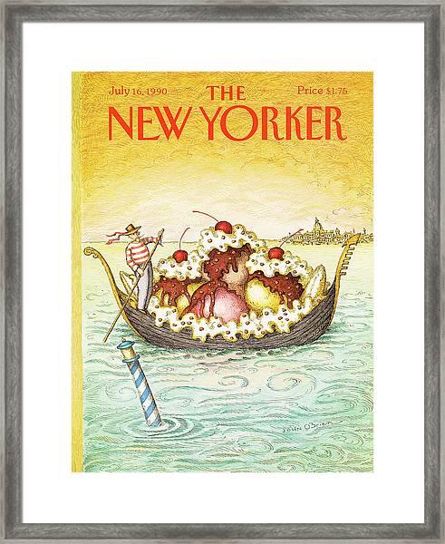 New Yorker July 16th, 1990 Framed Print