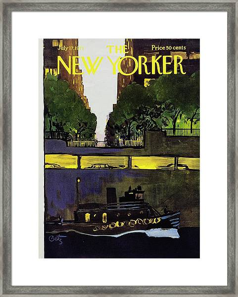 New Yorker July 17th 1971 Framed Print by Arthur Getz