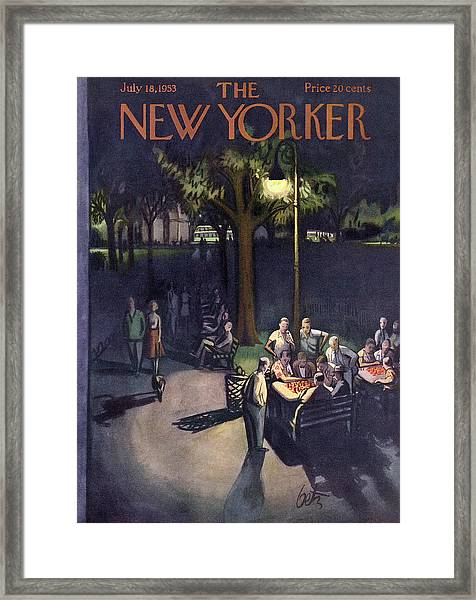 New Yorker July 18th, 1953 Framed Print