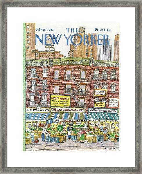 New Yorker July 18th, 1983 Framed Print