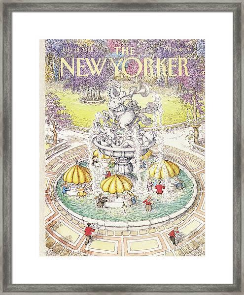 New Yorker July 18th, 1988 Framed Print
